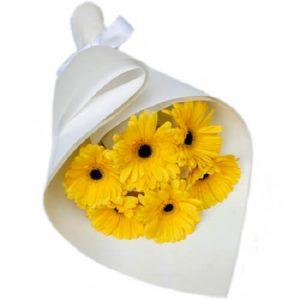 Send Yellow Gerbera Bouquet Melbourne