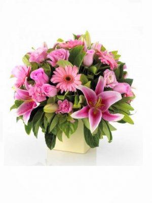 Order Mother's Day Pink Flower Arrangement