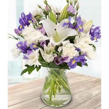 Chrysanthemum Vase Arrangement for Anniversary