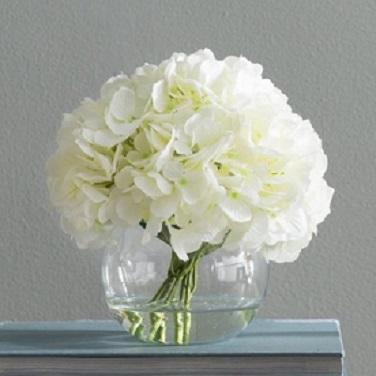 Hydrangea Vase Arrangement for Anniversary