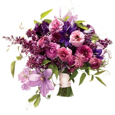 Lilacs Bouquet for Anniversary