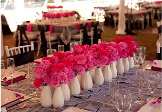 Carnation Wedding Flower Arrangement