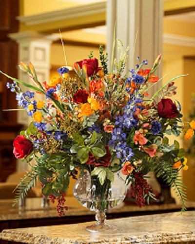 Floral centerpiece for reception