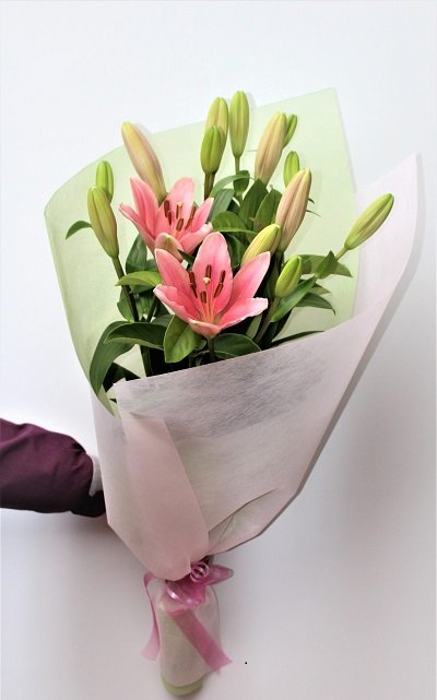 Pink Lilies Bouquet for Birthday Melbourne