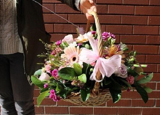 Online Apology Flower Basket Delivery Melbourne