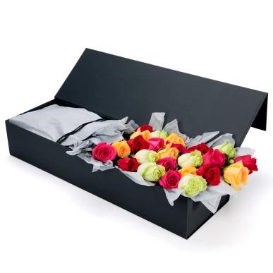 Order Colorful Rose Box Online Melbourne
