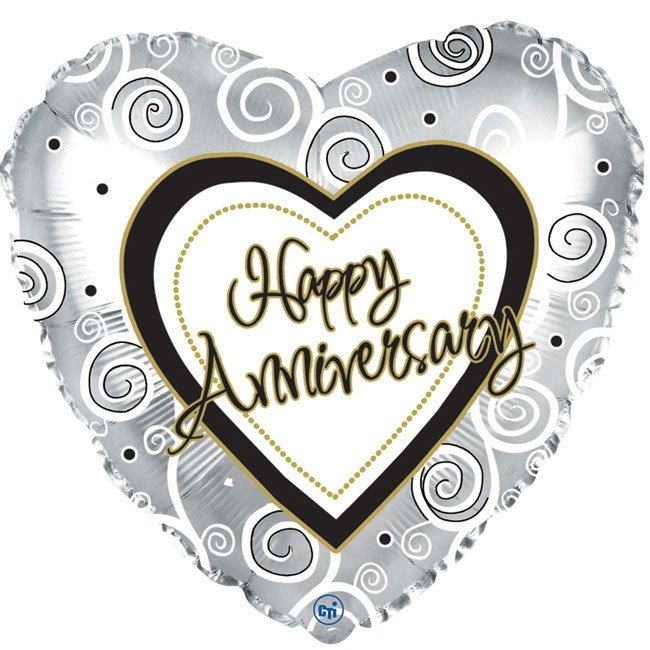 Happy Anniversary Heart Balloon