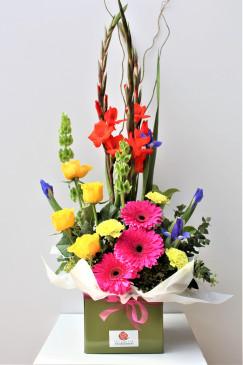 Large Surprise Flower Box Arrangement