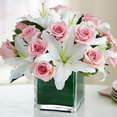 Floral Elegance With Vase