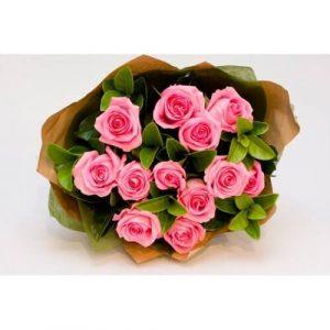 Order Online Pink Roses Bouquet Melbourne