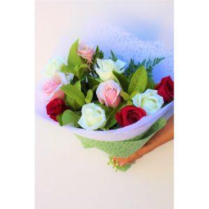 Online Order Mix Roses Bouquet Melbourne