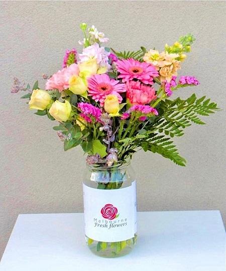 Flower Jar Arrangement Melbourne
