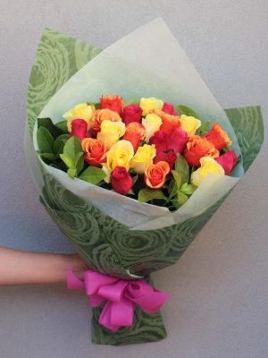 24 Mix Roses Bouquet Online