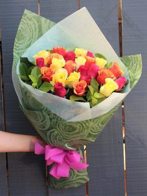 24 Mix Roses Delivery Bouquet Melbourne
