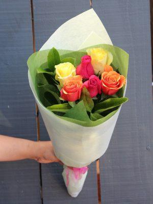 6 Mix Roses Bouquet Delivery Melbourne