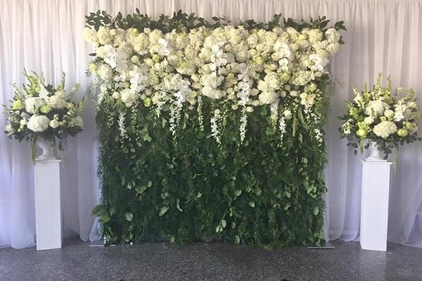 Flower Backdrop For Wedding