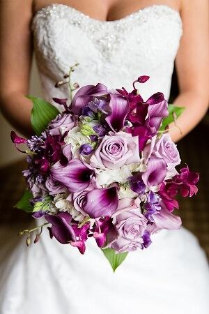 Order Lavender Lilies Wedding Bouquet Delivery Melbourne