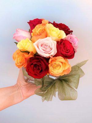 Order Mix Roses Vase Online Melbourne