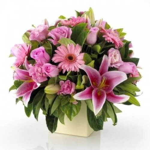 Order Pink Flower Arrangement Melbourne