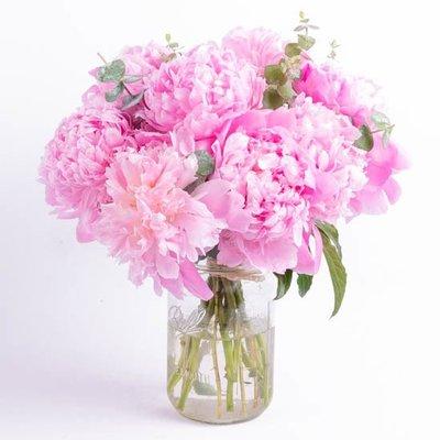 Peonies Vase Arrangement for Anniversary