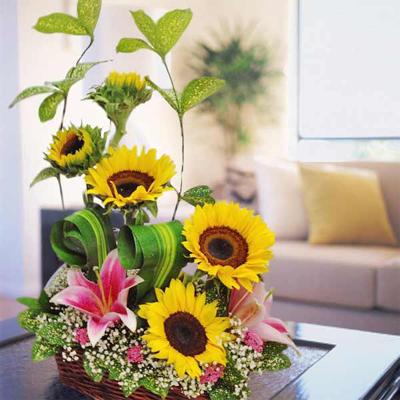 Sunflower Arrangement for Birthday Delivery