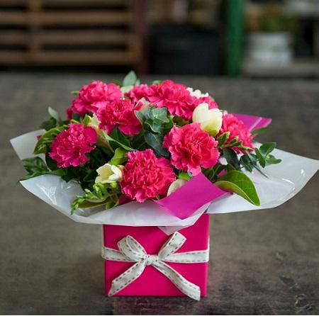 Carnations Box Arrangement Melbourne