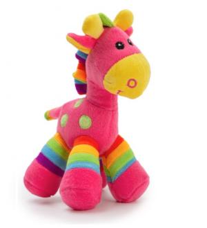 Gerry Giraffe Bright Stripes Hot Pink