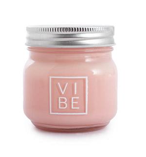 Scented Candle Jar Vibe Soft Vanilla Peach