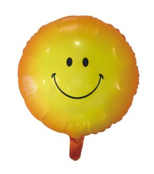 Foil Round Smiley Face Yellow - Balloon